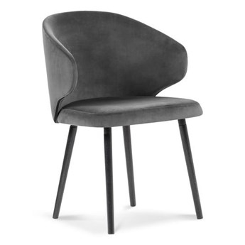 Ciemnoszare krzesło z aksamitnym obiciem Windsor & Co Sofas Nemesis