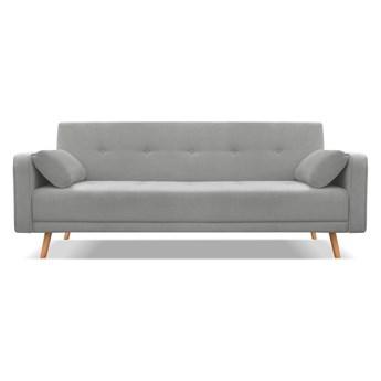 Ciemnoszara sofa rozkładana Cosmopolitan Design Stuttgart, 212 cm