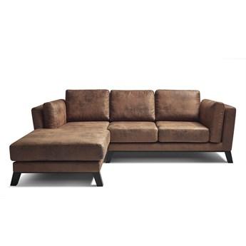 Brązowa sofa Bobochic Paris Seattle Vintage, lewostronna