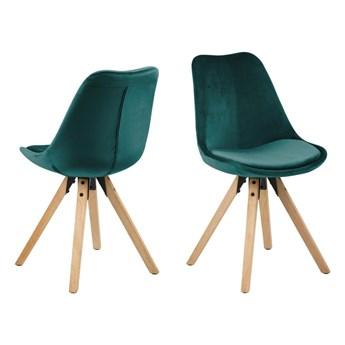 Zestaw 2 zielononiebieskich krzeseł Actona Dima Velvet