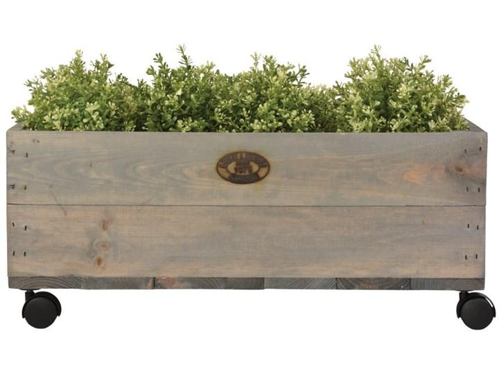 Skrzynka na kółkach Ego Dekor, szer. 59 cm Donica ogrodowa Kategoria Donice ogrodowe Donica balkonowa Prostokątny Kolor Szary