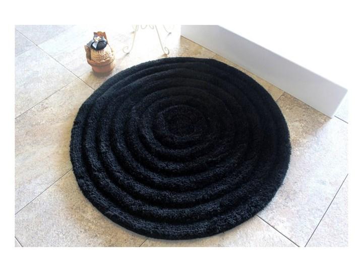 Dywanik łazienkowy Round Black, Ø 90 cm