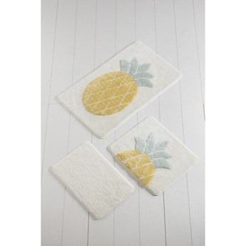 Komplet 2 dywaników łazienkowych Tropico Ananas