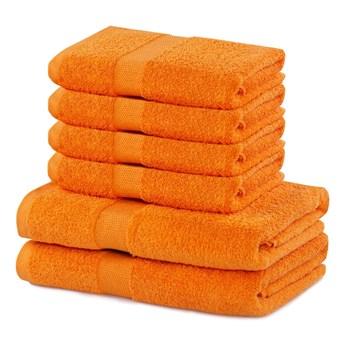 Komplet 6 pomarańczowych bawełnianych ręczników DecoKing Marina