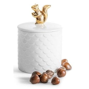 Porcelanowy pojemnik z wieczkiem Sagaform Squirrel