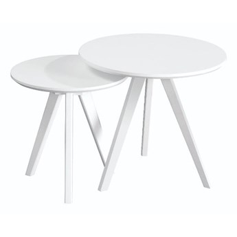 Zestaw 2 białych stolików Rowico YuRAi