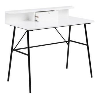Białe biurko drewniane Actona Pascal