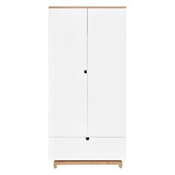 Biała szafa 2-drzwiowa BELLAMY Nomi