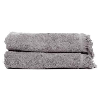 Zestaw 2 jasnoszarych ręczników kąpielowych ze 100% bawełny Bonami, 70x140 cm