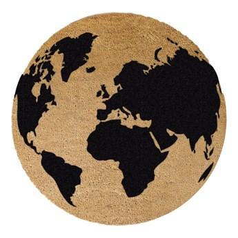 Okrągła wycieraczka z naturalnego włókna kokosowego Artsy Doormats Gloge, ⌀ 70 cm