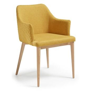 Musztardowe krzesło do jadalni La Forma Danai