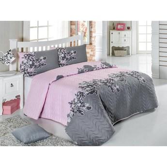 Zestaw pikowanej narzuty na łóżko i 2 poszewek na poduszki Eponj Home Rodez Powder, 200x220 cm