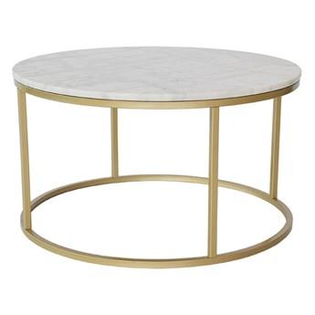 Marmurowy stolik z konstukcją w kolorze mosiądzu RGE Accent, ⌀ 85 cm