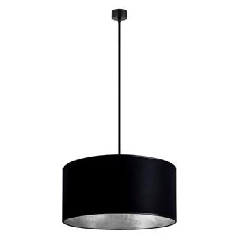 Czarna lampa wisząca z wnętrzem w kolorze srebra Sotto Luce Mika, ⌀ 50 cm