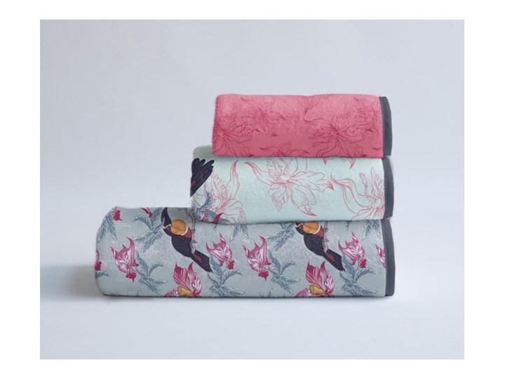 Zestaw 3 ręczników Madre Selva Toucan 60x140 cm Bawełna 40x90 cm Łazienkowe Komplet ręczników Młodzieżowe 30x40 cm Ręcznik kąpielowy Kolor Różowy