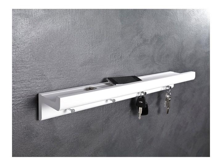 Biały półka z haczykami na klucze Tomasucci Trays Drewno Kategoria Szafki i wieszaki na klucze