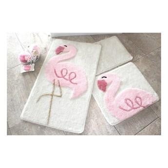 Zestaw 3 dywaników łazienkowych Pink Flamingo