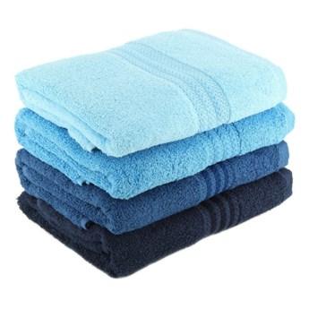 Zestaw 4 niebieskich ręczników bawełnianych Rainbow Sky, 50x90 cm