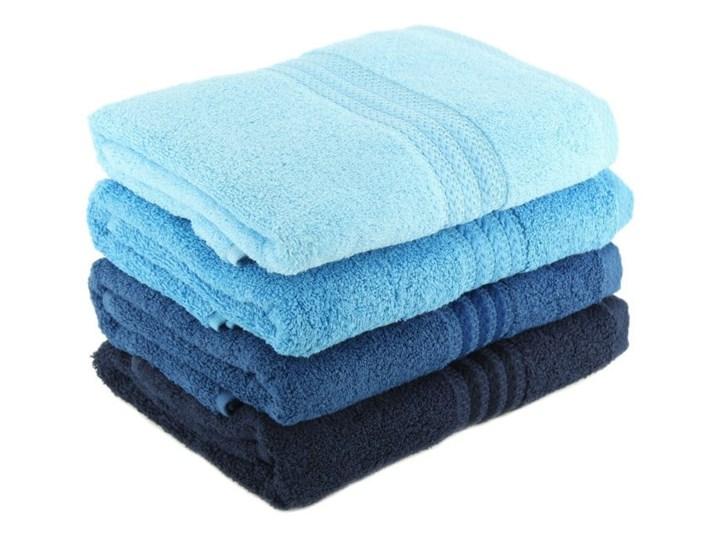 Zestaw 4 niebieskich ręczników bawełnianych Rainbow Sky, 50x90 cm Frotte Ręcznik kąpielowy Komplet ręczników Łazienkowe Bawełna Kategoria Ręczniki