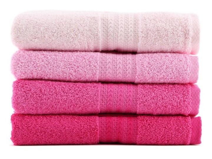 Zestaw 4 różowych ręczników Rainbow, 50x90 cm Bawełna Łazienkowe Ręcznik kąpielowy Komplet ręczników Frotte Kategoria Ręczniki