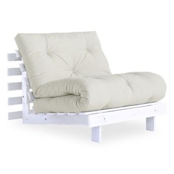 Fotel rozkładany z jasnobeżowym pokryciem Karup Design Roots White/Natural