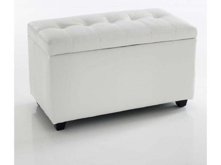 Biała ławka ze schowkiem Tomasucci Nice Pikowana Skrzynia Kategoria Ławki do salonu