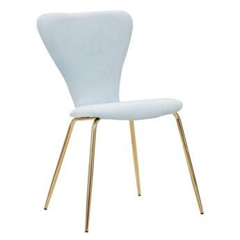Jasnoniebieskie krzesło z żelazną konstrukcją Mauro Ferretti Sedia