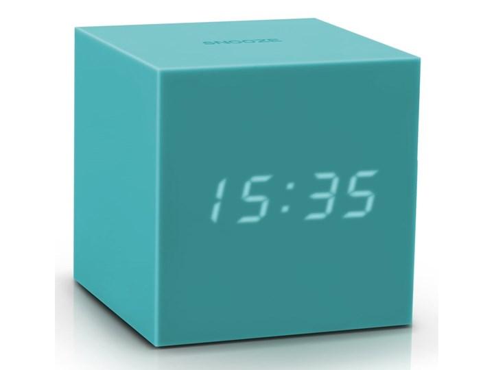 Turkusowy budzik LED Gingko Gravitry Cube Plastik Kwadratowy Tworzywo sztuczne Zegar stołowy Kategoria Zegary