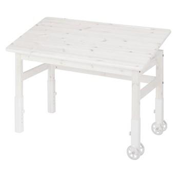 Białe biurko z drewna sosnowego z regulowanym blatem Flexa Elegant