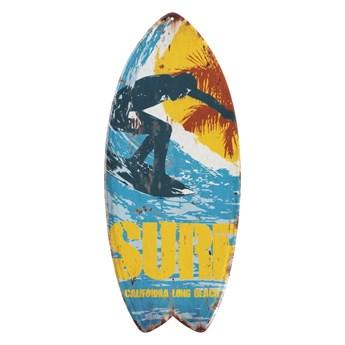 Zestaw 4 ściennych dekoracji z metalu Geese Surfboard