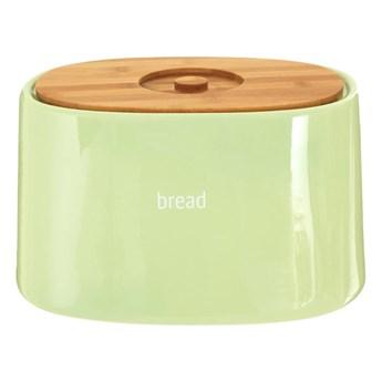 Zielony chlebak z bambusowym wieczkiem Premier Housewares Fletcher, 7,7 l