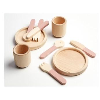 Zestaw naczyń dziecięcych z drewna do zabawy Flexa Play Tablewear