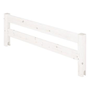 Biała barierka z drewna sosnowego do łóżka Flexa Classic, dł. 116 cm