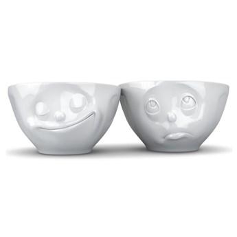 Komplet 2 białych porcelanowych szczęśliwych miseczek 58products, 200 ml