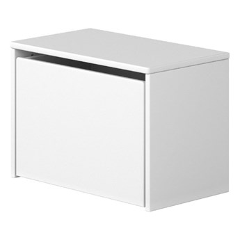 Biała ławka ze schowkiem Flexa Dots