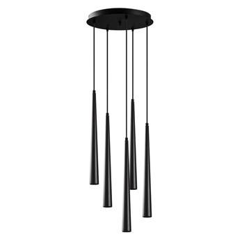 Czarna lampa wisząca z 5 kloszami Opviq lights Uğur Drop