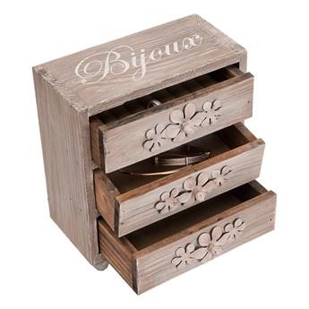 Drewniana szkatułka na biżuterię Antic Line Chest