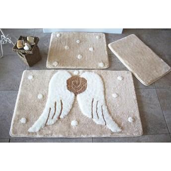 Zestaw 3 dywaników łazienkowych Angels