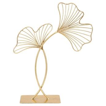 Dekoracja w złotym kolorze Mauro Ferretti Leaf Glam, wysokość 44 cm