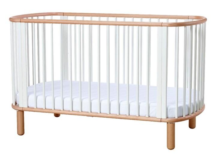 Białe łóżeczko dziecięce z drewna bukowego Flexa Baby, 70x140 cm