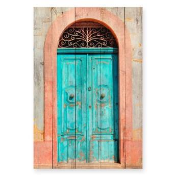 Tabliczka drewniana z drewna sosnowego Really Nice Things Door, 40x60