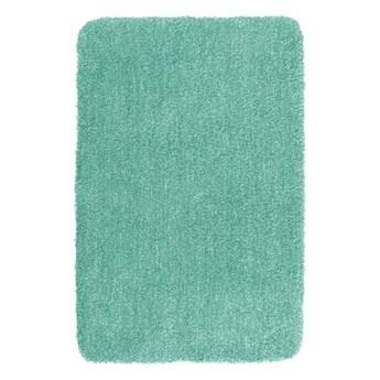 Turkusowy dywanik łazienkowy Wenko Mélange, 90x60 cm