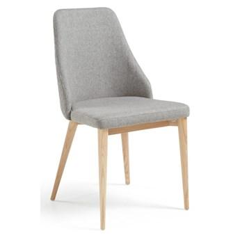 Zestaw 2 jasnoszarych krzeseł do jadalni La Forma Roxie