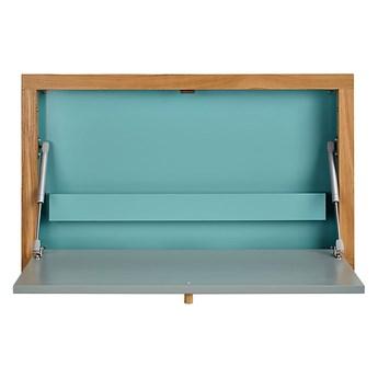 Niebieski składany stolik ścienny Woodman Banti