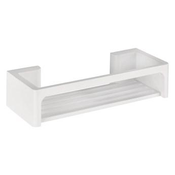 Jasnoszara samoprzyczepna półka łazienkowa Wenko Bralia