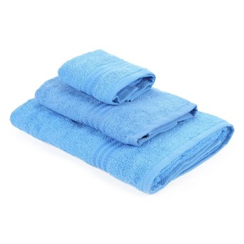 Zestaw 3 niebieskich ręczników Rainbow