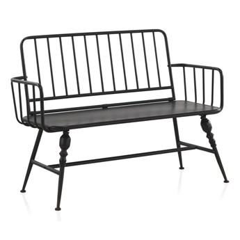 Czarna ławka metalowa Geese Gap