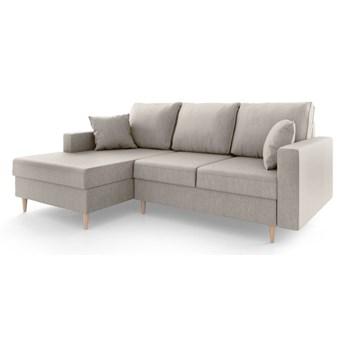 Beżowa sofa rozkładana ze schowkiem Mazzini Sofas Aubrieta, lewostronna