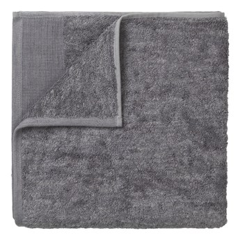 Ciemnoszary bawełniany ręcznik kąpielowy Blomus, 140x70cm