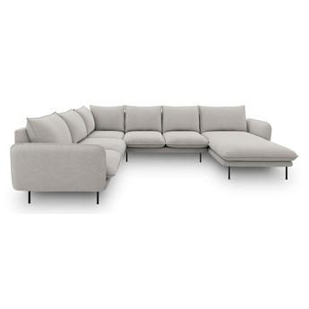 Jasnoszara sofa w kształcie litery U Cosmopolitan Design Vienna, lewostronna